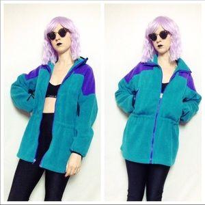 VTG Turquoise Purple 90s Columbia Fleece Jacket